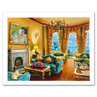 """Anatoly Metlan Signed """"Sunny Day in Florida"""" Limited Edition 19x24 Serigraph at PristineAuction.com"""