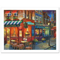 "Anatoly Metlan Signed ""Saint Denis La Nuit"" Limited Edition 25x19 Lithograph at PristineAuction.com"