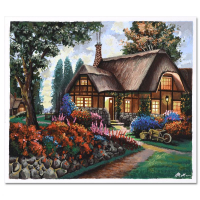 """Anatoly Metlan Signed """"Country House"""" Limited Edition 20x17 Serigraph at PristineAuction.com"""