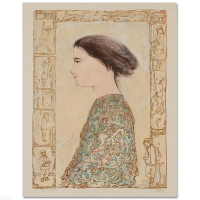 """Edna Hibel Signed """"China Profile"""" Limited Edition 22x30 Lithograph at PristineAuction.com"""
