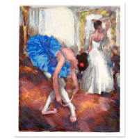 "Hedva Ferenci Signed ""Blue Dancer"" Limited Edition 18x22 Serigraph at PristineAuction.com"
