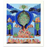 """Ilan Hasson Signed """"Tree of Life"""" Limited Edition 18x21 Serigraph at PristineAuction.com"""