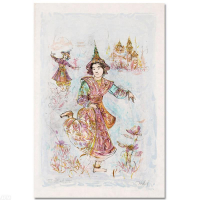 """Edna Hibel Signed """"Thai Dancers"""" Limited Edition 15x25 Lithograph at PristineAuction.com"""
