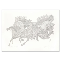 """Guillaume Azoulay Signed """"Lever De Soleil"""" Limited Edition 38x27 Serigraph at PristineAuction.com"""