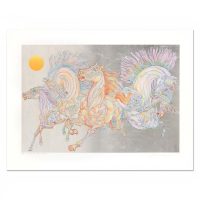 "Guillaume Azoulay Signed ""Lever De Soleil"" Limited Edition 38x27 Serigraph with Hand Laid Silver Leaf at PristineAuction.com"