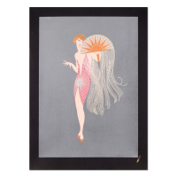 "Erte Estate Signed ""Flapper"" Limited Edition 29x41 Serigraph at PristineAuction.com"