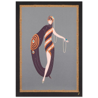 "Erte Estate Signed ""Pearls and Emeralds"" Limited Edition 29x42 Serigraph at PristineAuction.com"