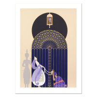 "Erte Signed ""Bird in a Gilded Cage"" Limited Edition 30x41 Serigraph at PristineAuction.com"