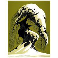 "Eyvind Earle Signed ""Snow Laden"" Limited Edition 24x18 Serigraph on Paper at PristineAuction.com"
