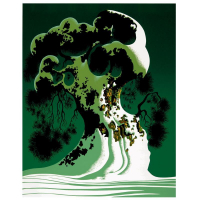 "Eyvind Earle Signed LE ""Snow Covered Bonsai"" 20x16 Serigraph on Paper at PristineAuction.com"