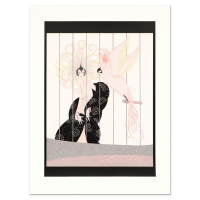 "Erte Signed ""The Birdcage"" Limited Edition 23x30 Serigraph at PristineAuction.com"