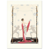 "Erte Signed ""The Duel"" Limited Edition 22x30 Serigraph at PristineAuction.com"