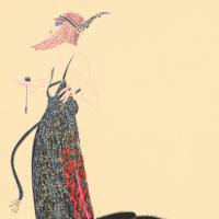 "Erte Signed ""Black Magic"" Limited Edition 15x20 Serigraph at PristineAuction.com"
