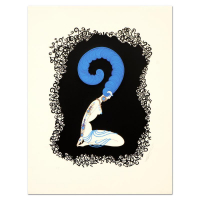 "Erte Signed ""Numeral 2"" Limited Edition 17x22 Serigraph at PristineAuction.com"