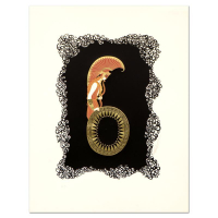 "Erte Signed ""Numeral 6"" Limited Edition 17x22 Serigraph at PristineAuction.com"