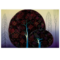 "Eyvind Earle Signed ""A Tree Poem"" Limited Edition 20x40 Serigraph on Paper at PristineAuction.com"