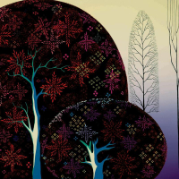 """Eyvind Earle Signed """"A Tree Poem"""" Limited Edition 20x40 Serigraph on Paper at PristineAuction.com"""