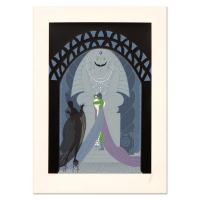 "Erte Signed ""Lovers and Idol"" Limited Edition 17x23 Serigraph at PristineAuction.com"