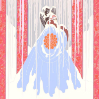 """Erte Signed """"Loves Captive"""" Limited Edition 28x33 Serigraph at PristineAuction.com"""