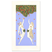 "Erte Signed ""Adam and Eve"" Limited Edition 21x37 Serigraph at PristineAuction.com"