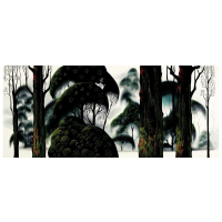 "Eyvind Earle Signed ""Forest Magic"" Limited Edition 15x35 Serigraph on Paper at PristineAuction.com"