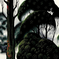 """Eyvind Earle Signed """"Forest Magic"""" Limited Edition 15x35 Serigraph on Paper at PristineAuction.com"""