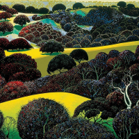 "Eyvind Earle Signed ""Santa Ynez Memories"" Limited Edition 22x28 Serigraph on Paper at PristineAuction.com"