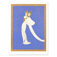 "Erte Signed ""Tanagra Blue"" Limited Edition 30x41 Serigraph at PristineAuction.com"