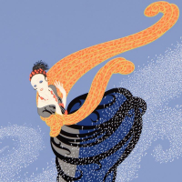 """Erte Signed """"Summer Breeze"""" Limited Edition 23x30 Serigraph at PristineAuction.com"""