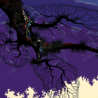 """Eyvind Earle Signed """"Purple Coastline"""" Limited Edition 20x40 Serigraph on Paper at PristineAuction.com"""