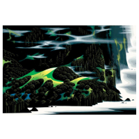 "Eyvind Earle Signed ""Haze Of Early Spring"" Limited Edition 24x36 Serigraph on Paper at PristineAuction.com"