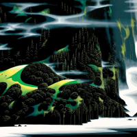 """Eyvind Earle Signed """"Haze Of Early Spring"""" Limited Edition 24x36 Serigraph on Paper at PristineAuction.com"""