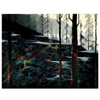 "Eyvind Earle Signed ""Dawns First Light"" Limited Edition 25x32 Serigraph on Paper"