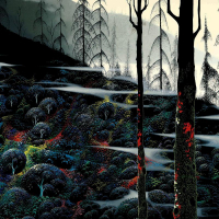 "Eyvind Earle Signed ""Dawns First Light"" Limited Edition 25x32 Serigraph on Paper at PristineAuction.com"