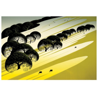 "Eyvind Earle Signed ""Cattle Country"" Limited Edition 20x30 Serigraph on Paper at PristineAuction.com"