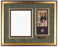 William Taft Signed 15.5x19.5 Custom Framed Letter Display (JSA ALOA)