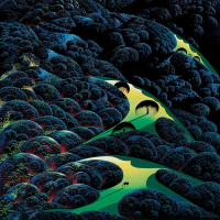 "Eyvind Earle Signed ""Three Pastures On A Hillside"" Limited Edition 36x27 Serigraph on Paper at PristineAuction.com"