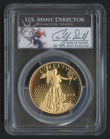 2012-W $50 Fifty Dollars American Gold Eagle Saint-Gaudens 1 Oz Gold Coin - U.S. Mint Director Signature Series (PCGS PR 70 DCAM)