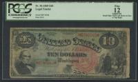 1869 $5 Five Dollars Legal Tender Large Bank Note (PCGS 12)