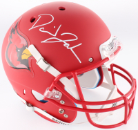 David Johnson Signed Full-Size Matte Red Helmet (JSA COA) at PristineAuction.com