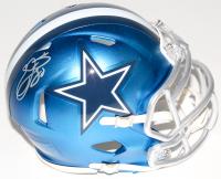 Emmitt Smith Signed Cowboys Mini Blaze Speed Helmet (Schwartz COA & Prova Hologram) at PristineAuction.com