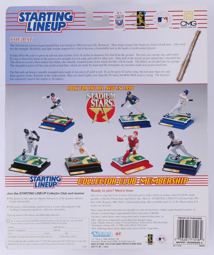 6957482f62 Starting Lineup Classic Doubles Figurines with Alex Rodriguez & Ken Griffey  Jr. at PristineAuction.