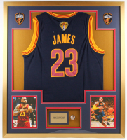 LeBron James  Cavaliers 34x38 Custom Framed Finals Jersey Display with Championship Ring