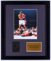 Muhammad Ali 16x19 Custom Framed Photo Display with 24k Gold Card