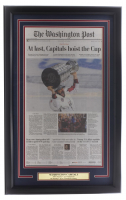Capitals 18x30 Custom Framed 2018 Stanley Cup Champions Newpaper Page Display at PristineAuction.com
