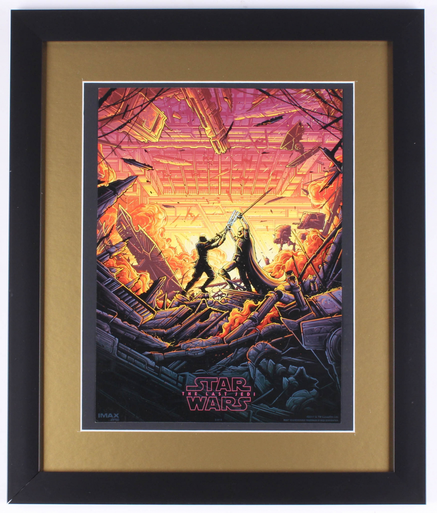 Star Wars The Last Jedi 16x19 Custom Framed Movie Poster At Pristineauction