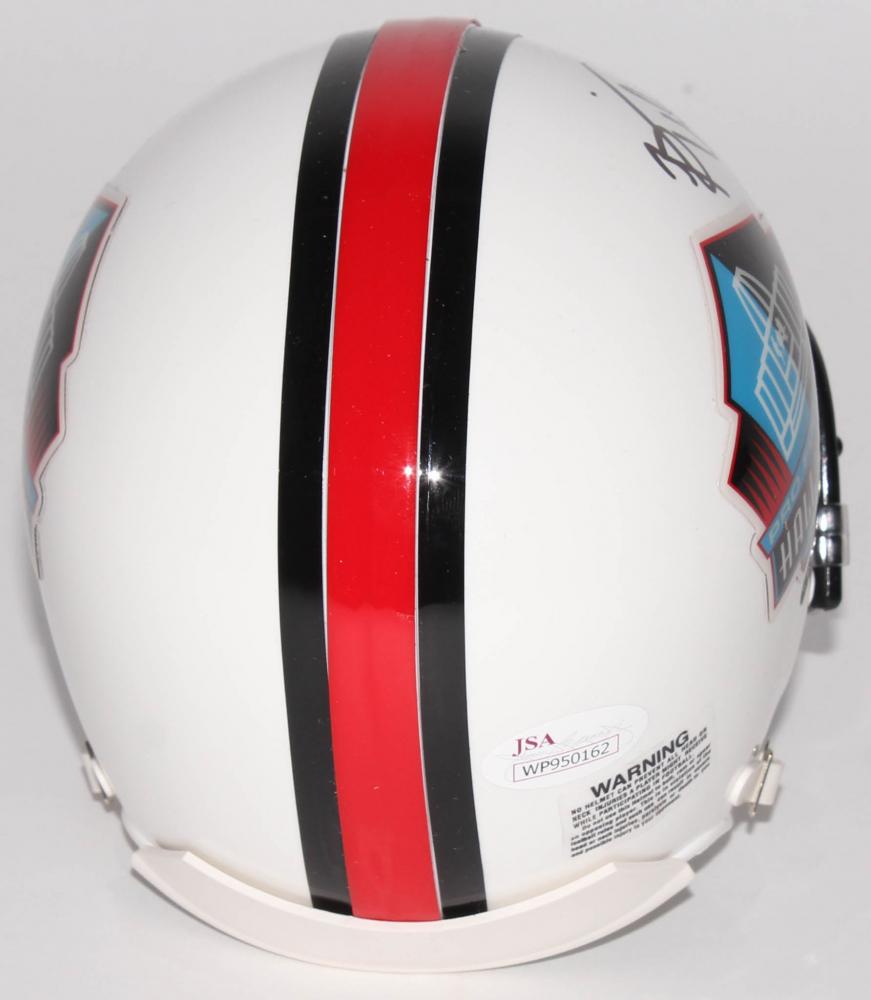 798bbca23b5 Brian Urlacher Signed Hall Of Fame Mini Helmet Inscribed