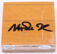 Magic Johnson Signed Michigan State Spartans Game-Used 4x4 Floorboard (JSA COA) at PristineAuction.com