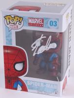 "Stan Lee Signed ""Spider-Man"" #03 Marvel Funko Pop Bobble-Head Vinyl Figure (Radtke COA)"