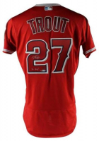 "Mike Trout Signed Los Angeles Angels LE Jersey Inscribed ""16 MVP"" (MLB Hologram & Steiner COA) at PristineAuction.com"